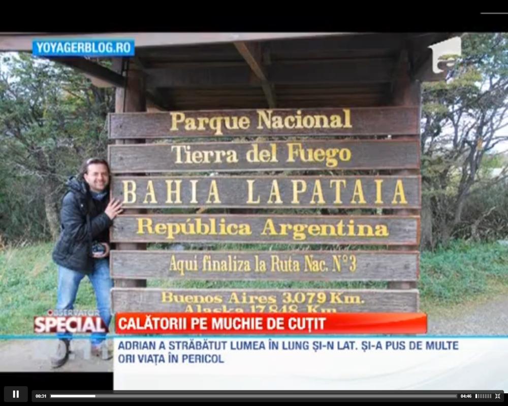 Adrian Tărăcilă despre călătoriile sale, la Observatorul Special al Antenei 1 (3/4)