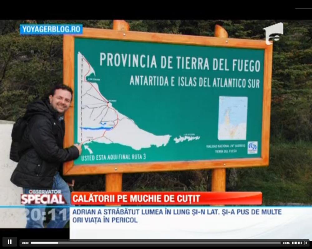 Adrian Tărăcilă despre călătoriile sale, la Observatorul Special al Antenei 1 (1/4)